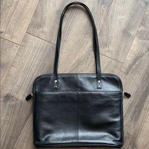Latico Black Leather Computer or Tote Bag